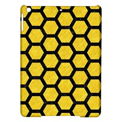 Hexagon2 Black Marble & Yellow Colored Pencil Ipad Air Hardshell Cases by trendistuff
