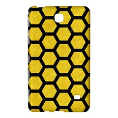 Hexagon2 Black Marble & Yellow Colored Pencil Samsung Galaxy Tab 4 (8 ) Hardshell Case  by trendistuff