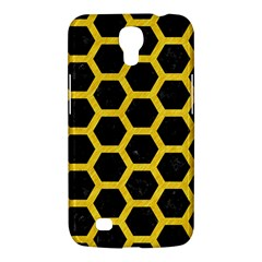 Hexagon2 Black Marble & Yellow Colored Pencil (r) Samsung Galaxy Mega 6 3  I9200 Hardshell Case by trendistuff