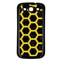 Hexagon2 Black Marble & Yellow Colored Pencil (r) Samsung Galaxy S3 Back Case (black) by trendistuff