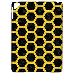 Hexagon2 Black Marble & Yellow Colored Pencil (r) Apple Ipad Pro 9 7   Hardshell Case by trendistuff