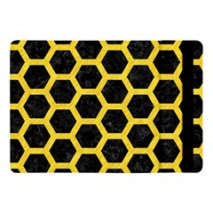 Hexagon2 Black Marble & Yellow Colored Pencil (r) Apple Ipad Pro 10 5   Flip Case by trendistuff