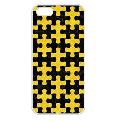 Puzzle1 Black Marble & Yellow Colored Pencil Apple Iphone 5 Seamless Case (white)