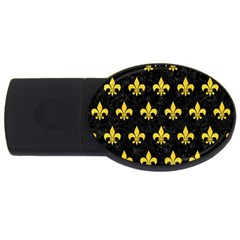 Royal1 Black Marble & Yellow Colored Pencil Usb Flash Drive Oval (4 Gb) by trendistuff