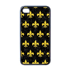 Royal1 Black Marble & Yellow Colored Pencil Apple Iphone 4 Case (black) by trendistuff