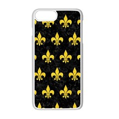 Royal1 Black Marble & Yellow Colored Pencil Apple Iphone 7 Plus Seamless Case (white) by trendistuff