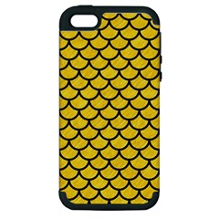 Scales1 Black Marble & Yellow Colored Pencil Apple Iphone 5 Hardshell Case (pc+silicone) by trendistuff