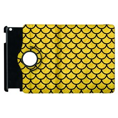 Scales1 Black Marble & Yellow Colored Pencil Apple Ipad 3/4 Flip 360 Case by trendistuff