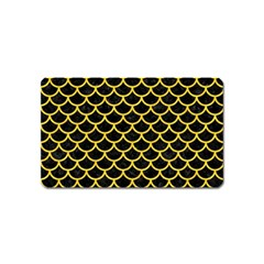 Scales1 Black Marble & Yellow Colored Pencil (r) Magnet (name Card) by trendistuff