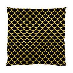 Scales1 Black Marble & Yellow Colored Pencil (r) Standard Cushion Case (one Side) by trendistuff