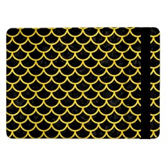Scales1 Black Marble & Yellow Colored Pencil (r) Samsung Galaxy Tab Pro 12 2  Flip Case by trendistuff