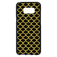Scales1 Black Marble & Yellow Colored Pencil (r) Samsung Galaxy S8 Plus Black Seamless Case by trendistuff