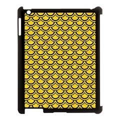 Scales2 Black Marble & Yellow Colored Pencil Apple Ipad 3/4 Case (black) by trendistuff