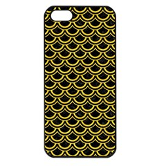 Scales2 Black Marble & Yellow Colored Pencil (r) Apple Iphone 5 Seamless Case (black) by trendistuff