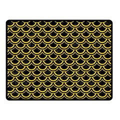 Scales2 Black Marble & Yellow Colored Pencil (r) Double Sided Fleece Blanket (small)  by trendistuff