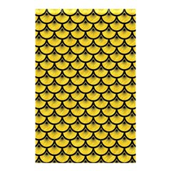 Scales3 Black Marble & Yellow Colored Pencil Shower Curtain 48  X 72  (small)  by trendistuff