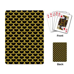 Scales3 Black Marble & Yellow Colored Pencil (r) Playing Card by trendistuff