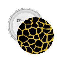 Skin1 Black Marble & Yellow Colored Pencil 2 25  Buttons by trendistuff