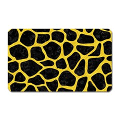 Skin1 Black Marble & Yellow Colored Pencil Magnet (rectangular) by trendistuff
