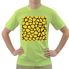Skin1 Black Marble & Yellow Colored Pencil (r) Green T Shirt by trendistuff