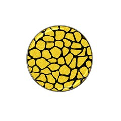 Skin1 Black Marble & Yellow Colored Pencil (r) Hat Clip Ball Marker by trendistuff