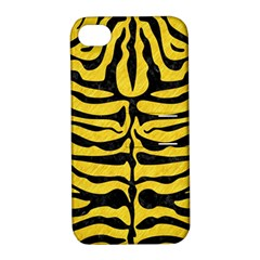 Skin2 Black Marble & Yellow Colored Pencil Apple Iphone 4/4s Hardshell Case With Stand by trendistuff