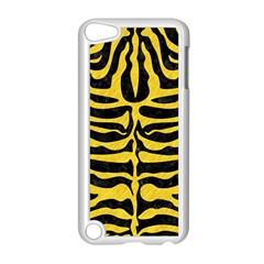 Skin2 Black Marble & Yellow Colored Pencil (r) Apple Ipod Touch 5 Case (white) by trendistuff