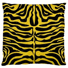 Skin2 Black Marble & Yellow Colored Pencil (r) Large Flano Cushion Case (one Side) by trendistuff
