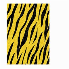 Skin3 Black Marble & Yellow Colored Pencil Large Garden Flag (two Sides) by trendistuff