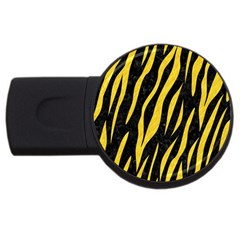 Skin3 Black Marble & Yellow Colored Pencil (r) Usb Flash Drive Round (2 Gb) by trendistuff