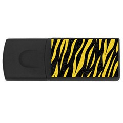Skin3 Black Marble & Yellow Colored Pencil (r) Rectangular Usb Flash Drive by trendistuff