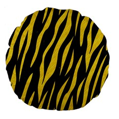Skin3 Black Marble & Yellow Colored Pencil (r) Large 18  Premium Flano Round Cushions by trendistuff