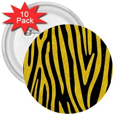 Skin4 Black Marble & Yellow Colored Pencil 3  Buttons (10 Pack)  by trendistuff