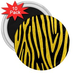 Skin4 Black Marble & Yellow Colored Pencil 3  Magnets (10 Pack)  by trendistuff