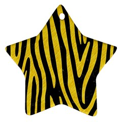 Skin4 Black Marble & Yellow Colored Pencil Star Ornament (two Sides) by trendistuff