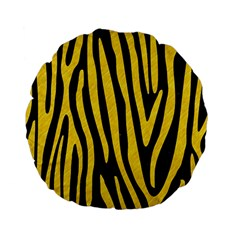 Skin4 Black Marble & Yellow Colored Pencil Standard 15  Premium Flano Round Cushions by trendistuff