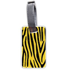 Skin4 Black Marble & Yellow Colored Pencil (r) Luggage Tags (one Side)  by trendistuff