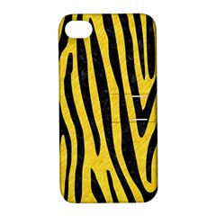 Skin4 Black Marble & Yellow Colored Pencil (r) Apple Iphone 4/4s Hardshell Case With Stand by trendistuff