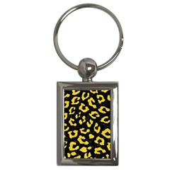 Skin5 Black Marble & Yellow Colored Pencil Key Chains (rectangle)  by trendistuff