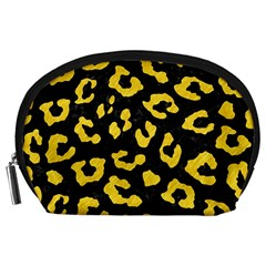 Skin5 Black Marble & Yellow Colored Pencil Accessory Pouches (large)  by trendistuff