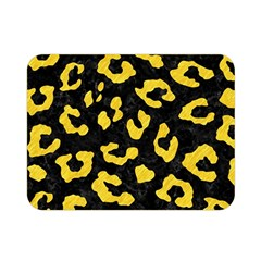Skin5 Black Marble & Yellow Colored Pencil Double Sided Flano Blanket (mini)  by trendistuff