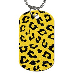 Skin5 Black Marble & Yellow Colored Pencil (r) Dog Tag (two Sides) by trendistuff