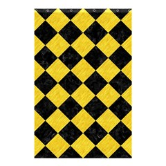 Square2 Black Marble & Yellow Colored Pencil Shower Curtain 48  X 72  (small)  by trendistuff
