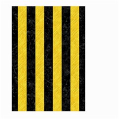 Stripes1 Black Marble & Yellow Colored Pencil Large Garden Flag (two Sides) by trendistuff