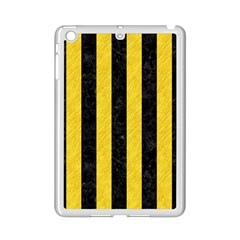 Stripes1 Black Marble & Yellow Colored Pencil Ipad Mini 2 Enamel Coated Cases by trendistuff