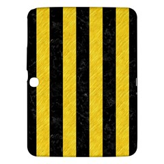 Stripes1 Black Marble & Yellow Colored Pencil Samsung Galaxy Tab 3 (10 1 ) P5200 Hardshell Case  by trendistuff