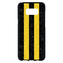 Stripes1 Black Marble & Yellow Colored Pencil Samsung Galaxy S8 Plus Black Seamless Case by trendistuff