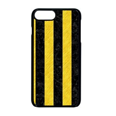 Stripes1 Black Marble & Yellow Colored Pencil Apple Iphone 8 Plus Seamless Case (black) by trendistuff