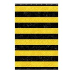 STRIPES2 BLACK MARBLE & YELLOW COLORED PENCIL Shower Curtain 48  x 72  (Small)  42.18 x64.8  Curtain