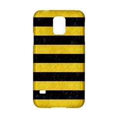 Stripes2 Black Marble & Yellow Colored Pencil Samsung Galaxy S5 Hardshell Case  by trendistuff
